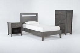 Gaven Grey Twin 3 Piece Bedroom Set