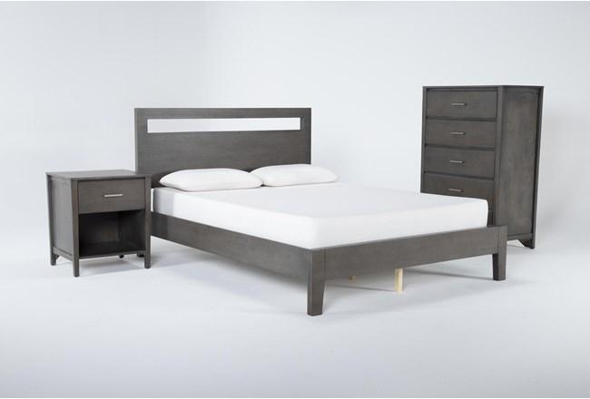 Gaven Grey Queen 3 Piece Bedroom Set - 360