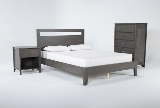 Gaven Grey California King 3 Piece Bedroom Set - 360