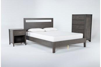 Gaven Grey Eastern King 3 Piece Bedroom Set