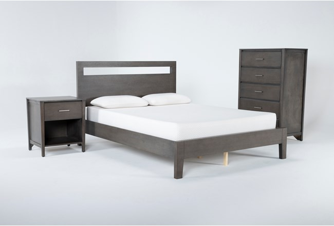 Gaven Grey Eastern King 3 Piece Bedroom Set - 360