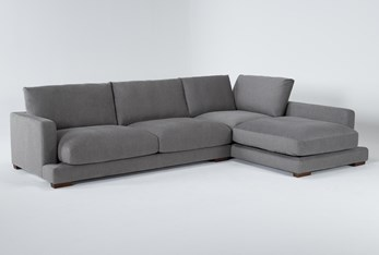 """Lindsey 2 Piece 130"""" Sectional With Right Arm Facing Chaise"""
