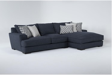 """Monrowe 2 Piece 132"""" Sectional With Right Arm Facing Chaise"""