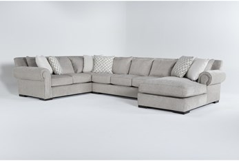 """Wythe 3 Piece 105"""" Sectional With Right Arm Facing Chaise"""