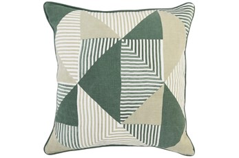 Accent Pillow -  Ambrose Myrtle Green + Natural 22X22