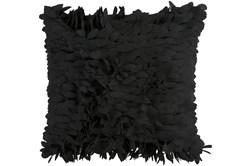 Accent Pillow - Black Textured Petals 18X18