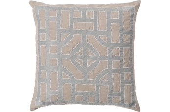 Accent Pillow - Chinese Gate Gray + Silver 18X18