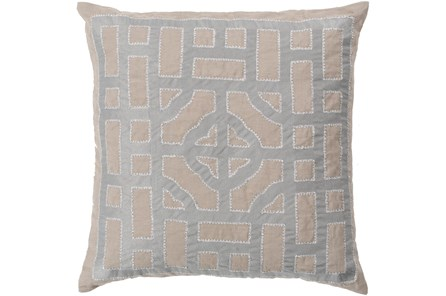 Accent Pillow - Chinese Gate Gray + Silver 18X18 - Main