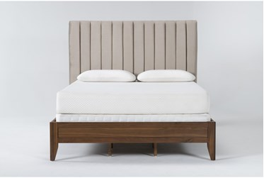 Magnolia Home Monroe Queen Velvet Upholstered Panel Bed By Joanna Gaines
