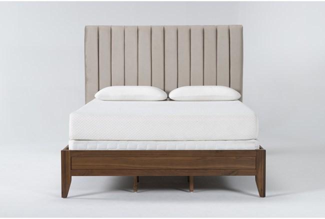 Magnolia Home Monroe Queen Velvet Upholstered Panel Bed By Joanna Gaines - 360