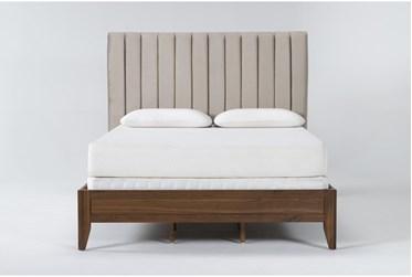 Magnolia Home Monroe Eastern King Velvet Upholstered Panel Bed By Joanna Gaines