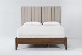 Magnolia Home Monroe California King Velvet Upholstered Panel Bed By Joanna Gaines