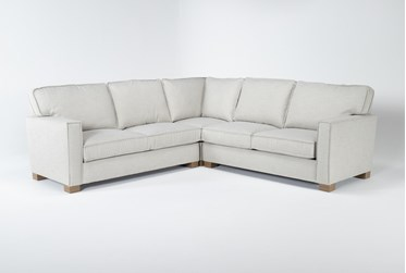 """Magnolia Home Dweller Homespun Sterling 3 Piece 104"""" Sectional By Joanna Gaines"""