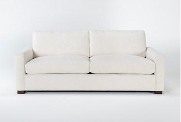 "Magnolia Home Walden Homespun Cream 89"" Sofa By Joanna Gaines"