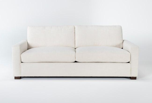 "Magnolia Home Walden Homespun Cream 89"" Sofa By Joanna Gaines - 360"