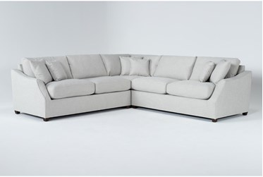 """Magnolia Home Maison Homespun Sterling 3 Piece 108"""" Sectional By Joanna Gaines"""