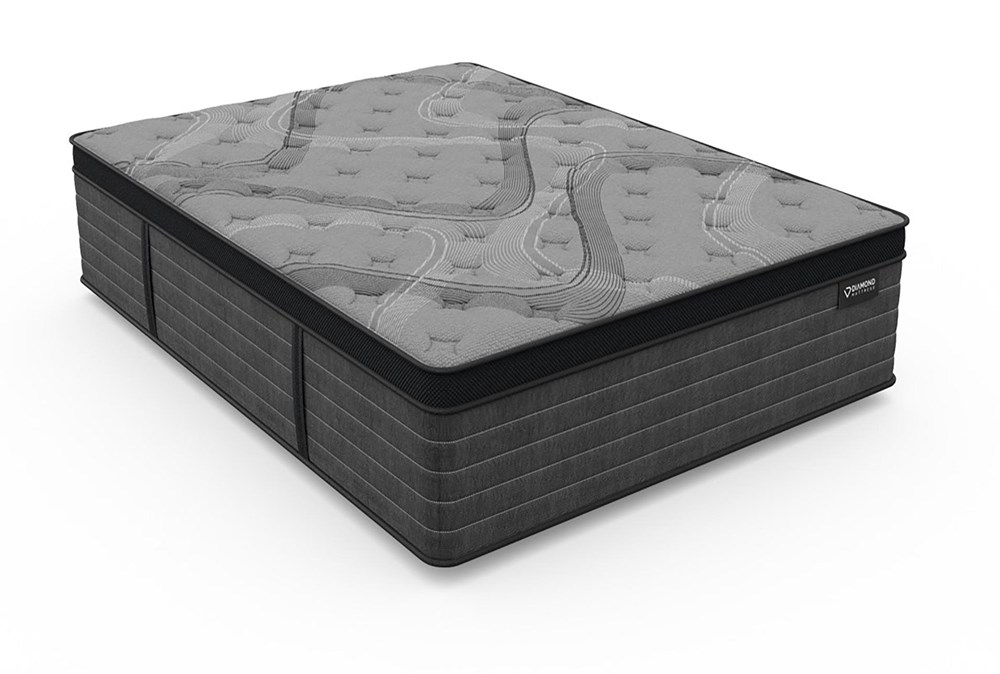 Diamond Graphene Cool Hybrid Plush Queen Mattress