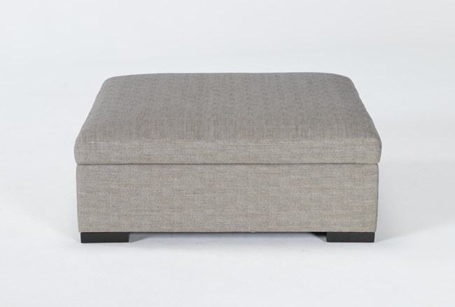 Norah Slate Accent Storage Ottoman By Nate Berkus And Jeremiah Brent - 360