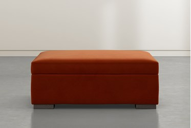 Norah Rust Accent Storage Ottoman By Nate Berkus And Jeremiah Brent