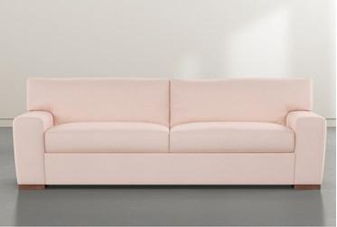 """Beckett Pink Velvet 87"""" Sofa By Nate Berkus and Jeremiah Brent"""