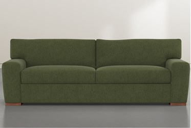 "Beckett Olive 87"" Sofa By Nate Berkus and Jeremiah Brent"