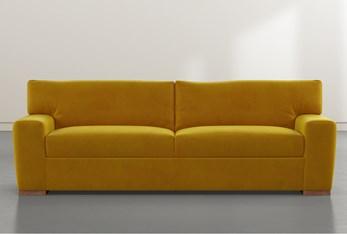 """Beckett Yellow 87"""" Sofa By Nate Berkus and Jeremiah Brent"""