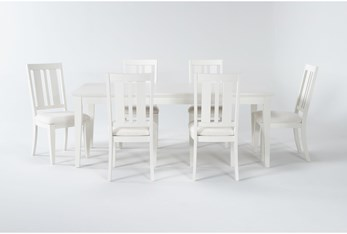 Presby White 7 Piece Extension Dining Set