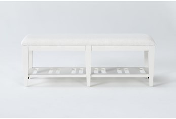 Presby White Dining Bench