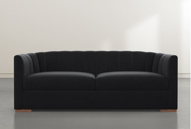 "Audrey Black 87"" Sofa By Nate Berkus And Jeremiah Brent"
