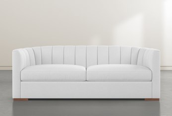 "Audrey White 87"" Sofa By Nate Berkus And Jeremiah Brent"