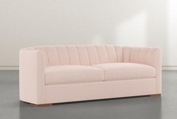 "Audrey Velvet Pink 87"" Sofa By Nate Berkus And Jeremiah Brent"