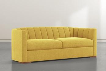 "Audrey Yellow 87"" Sofa By Nate Berkus And Jeremiah Brent"
