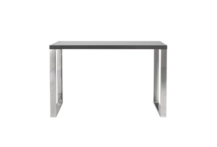 Del Mar Grey 47 Inch Desk With Polished Stainless Steel Base - Main