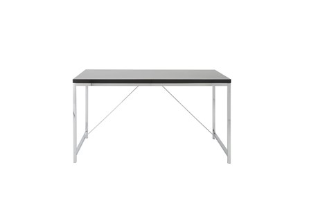 Carlsbad Black 54 Inch Desk With Chrome Base - Main