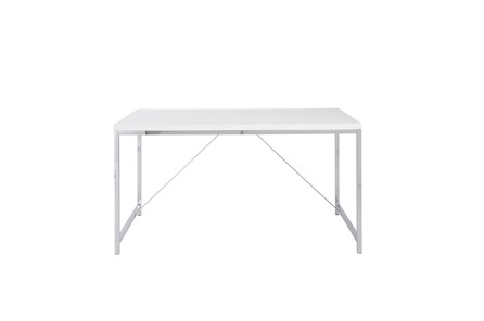 Carlsbad White 54 Inch Desk With Chrome Base - Main