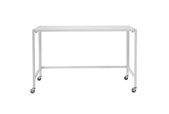 Flex Matte White 48 Inch Folding Desk With Casters