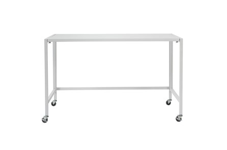 Flex Matte White 48 Inch Folding Desk With Casters - Main