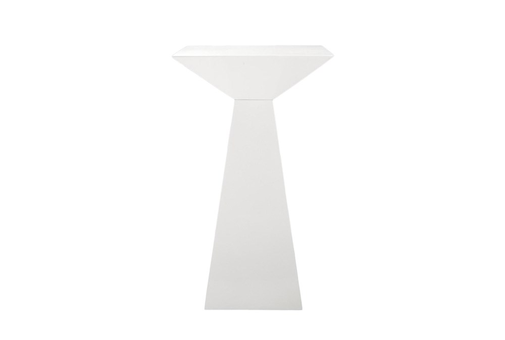 "Pillar High Gloss White 24"" Bar Table"