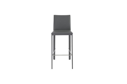 Parson Grey Leather-Like Upholstered 30