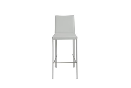 Parson White Leather-Like Upholstered 30