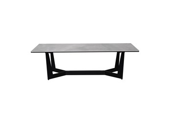 Neve Grey Faux Marble 48 Inch Coffee Table