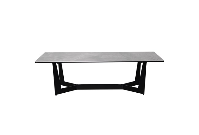 Neve Grey Faux Marble 48 Inch Coffee Table - 360