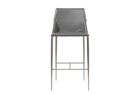 Origami Dark Grey Leather-Like Upholstered 30
