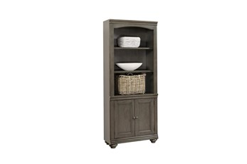 "Derby Peppercorn Door 75"" Bookcase"