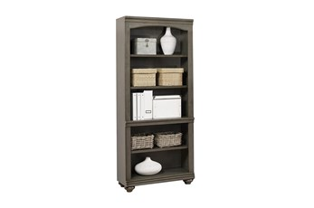 "Derby Peppercorn Open 75"" Bookcase"