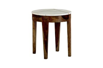 Marble + Inlay Accent Table