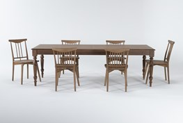 Magnolia Home Webster 7 Piece Dining Set With Low & High Back Chairs By Joanna Gaines