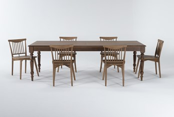 Magnolia Home Webster 7 Piece Dining Set With Low Back Chairs By Joanna Gaines