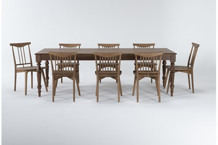 Magnolia Home Webster 9 Piece Dining Set With Low & High Back Chairs By Joanna Gaines - Main