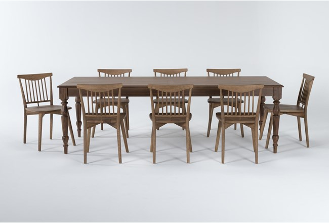 Magnolia Home Webster 9 Piece Dining Set With Low Back Chairs By Joanna Gaines - 360